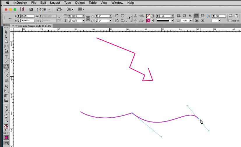 Pen Tool in InDesign