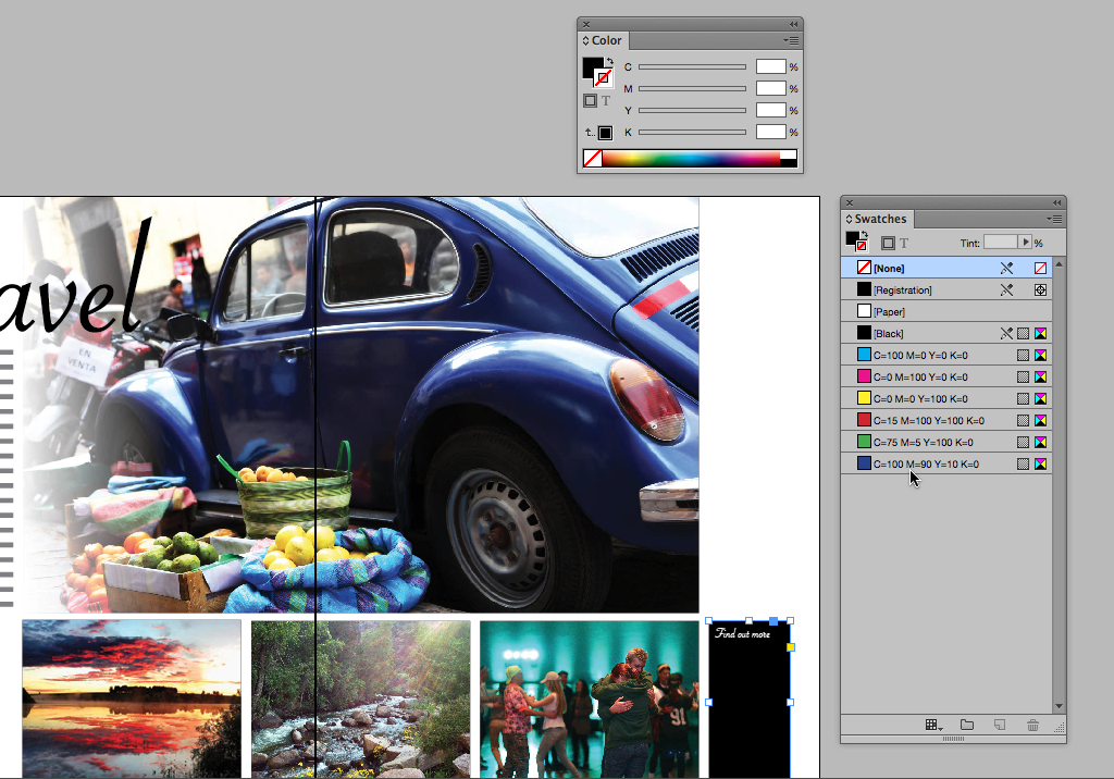 Color/Swatches in InDesign