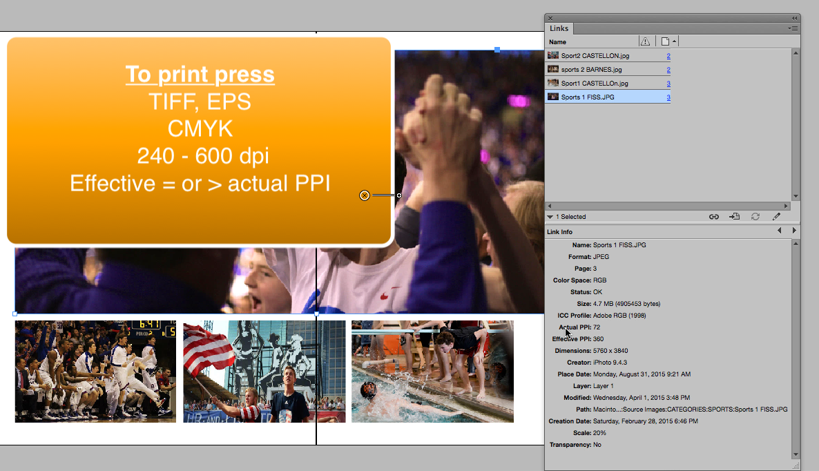 Featured - InDesign checking links part 1