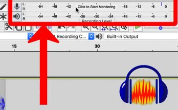 Screen shot of audacity audio meter
