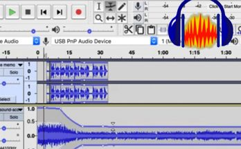 Screen shot of audio track with keyframing being applied